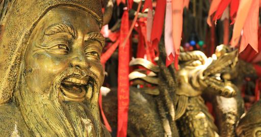 A Guardian statue at Suoi Tien park in Ho Chi Minh Vietnam closeup Live Action