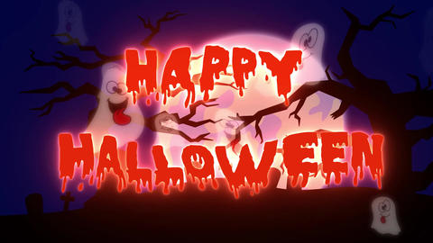 Happy Halloween Ghosts - 10 sec Animation