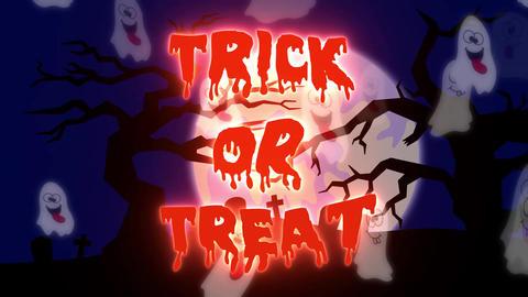 Trick or Treat Ghosts - 10 sec CG動画