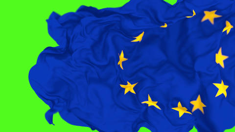 3D animation of the European Union flag, alpha matte is included Animation