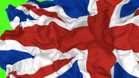 3D animated transition of National flag of the United Kingdom of Great Britain and Northern Ireland, Animation