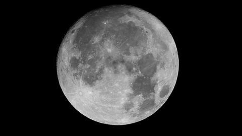 Real-time very detailed UHD extreme closeup shot of the full moon Acción en vivo
