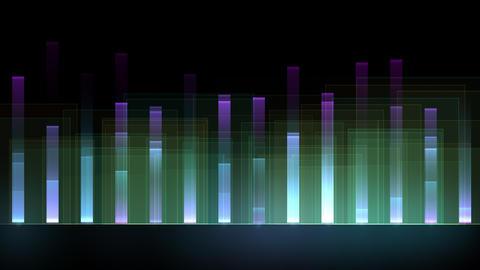 イコライザー風のカラフルなグラフィック(背景透過) CG動画