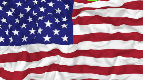3D animated transition of the National flag of the United States of America, alpha mask is included Animation