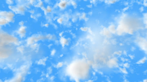 UHD 3D animation of the realistic blue cloudy sky Animation