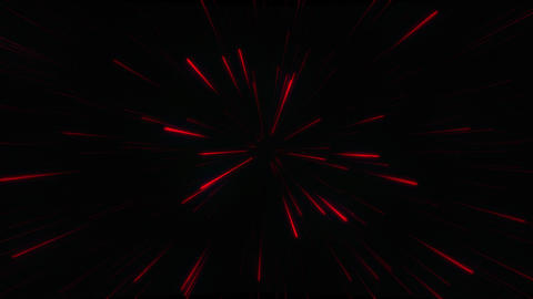 Abstract glow neon lines and stripes. Neon red particles animation. Retro Live Action