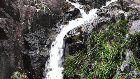 A small waterfall. Japanese style image Live Action
