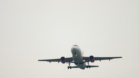 EasyJet Airbus A319 departure Live Action