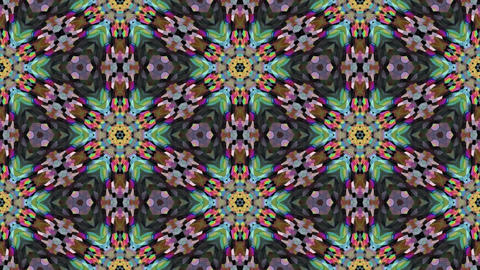 Kaleidoscopic generated seamless loop video Animation