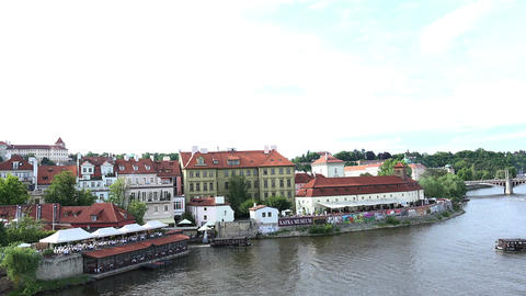 The Vltava River in Prague Filmmaterial