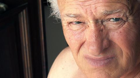 Sad old man Footage