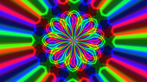 Rainbow waves generated seamless loop video Animation