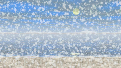 Snowy landscape generated seamless loop video Animation