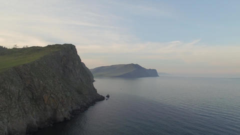 Hills on the shore of the lake Baikal Footage