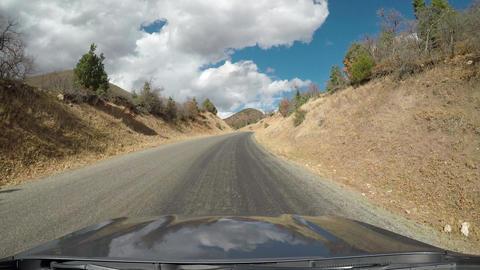 Beautiful mountain landscape drive POV front window fast 4K 965 Footage