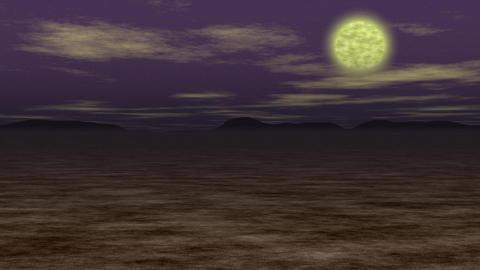 Night landscape generated seamless loop video Stock Video Footage
