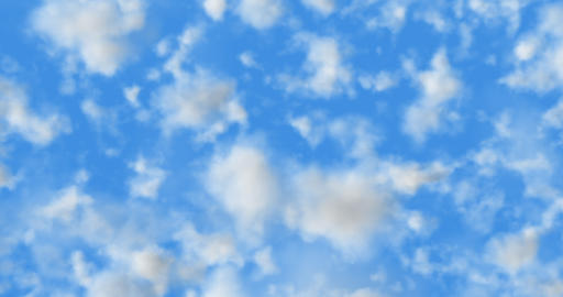 Cinema 4K 24 fps 3D animation of the realistic blue cloudy sky Animation
