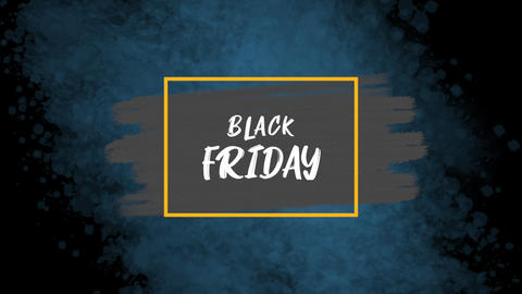 Animation intro text Black Friday on blue fashion and brush background CG動画