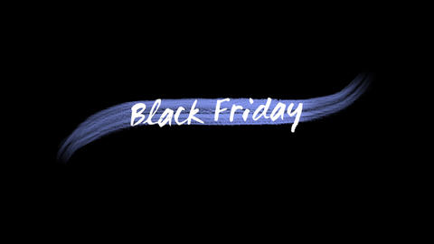 Animation intro text Black Friday on fashion and brush background CG動画