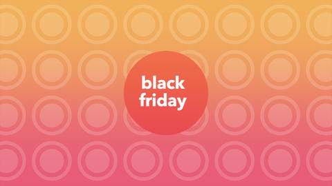 Animation intro text Black Friday on gradient fashion and minimalism background with dots Animation