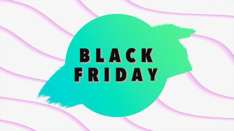 Animation intro text Black Friday on white fashion and minimalism background CG動画