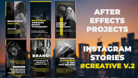 Instagram Stories Creative #2 After Effects Template