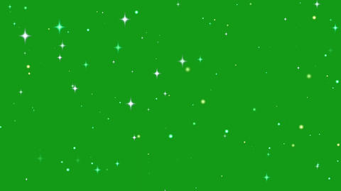 Twinkling stars motion graphics with green screen background Animation