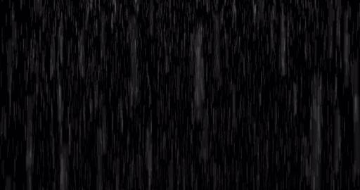 Rainy effect animation on black background Animation