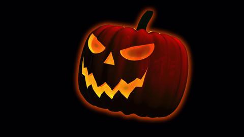 Halloween Pumpkin Transition On Alpha Animation