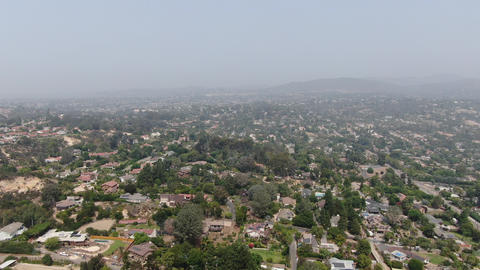 Thick haze and smog over San Diego due to wildfire in California Live Action