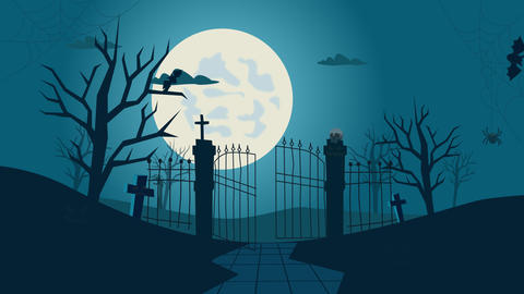 Halloween animation spooky graveyard Animation