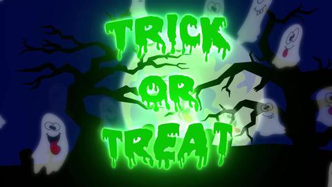 Trick or Treat Ghosts - 10 sec - Green CG動画