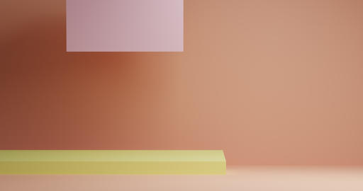 3d scene with sliding rectangles and spheres appearing from below. 4k video Live Action