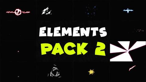 Energy Elements Pack 02 Motion Graphics Template