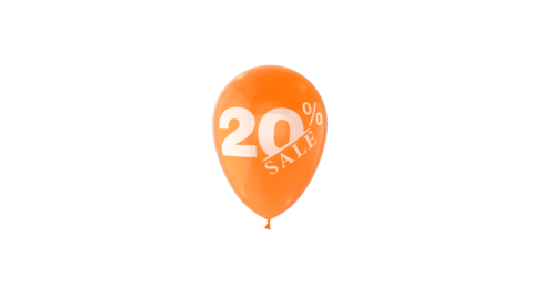 20% Percent Sales Discount Loop Animation with QuickTime / Animation / Alpha Channel Animation
