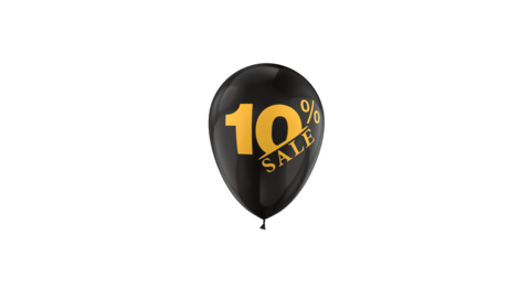 10% Percent Sales Discount Loop Animation with QuickTime / Animation / Alpha Channel Animation