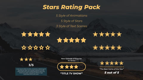 Star Rating Pack Apple Motion Template