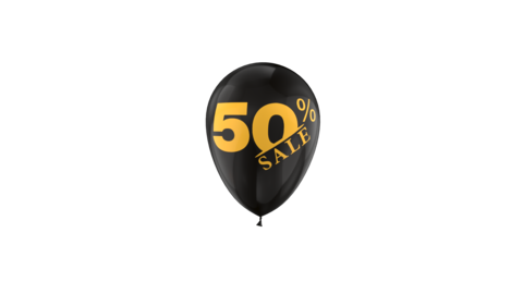 50 Percent Sales Discount Loop Animation with QuickTime / Animation / Alpha Channel Videos animados