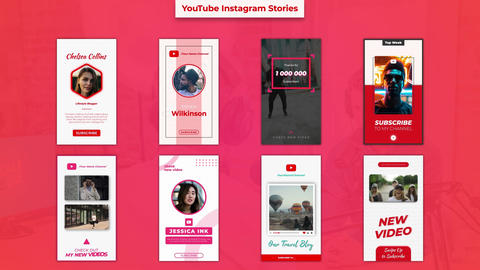 YouTube Instagram Stories Motion Graphics Template