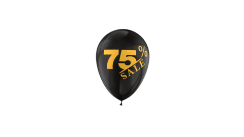 75% Percent Sales Discount Loop Animation with QuickTime / Animation / Alpha Channel Videos animados