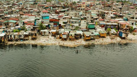 Slums and poor district of the city of Manila Live Action