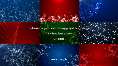 9 video - plexus, particular. Collection_3 After Effects Template