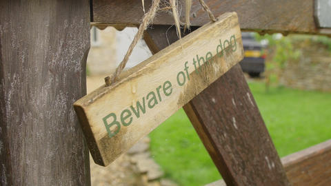 beware of the dog: ad, sign, notice Footage