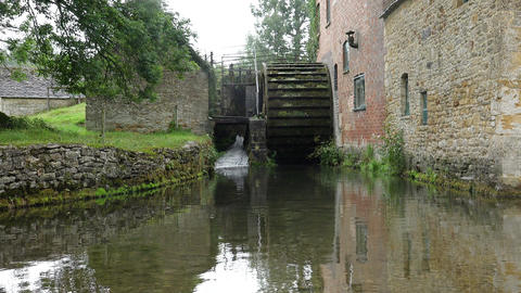 watermill in the countryside Footage