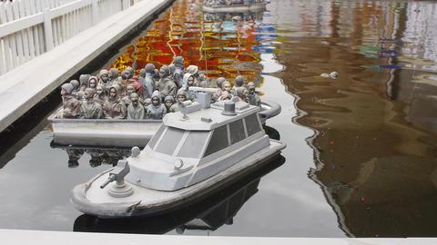 dismaland: the banksy art installation Footage