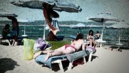 Vacation retro style amateur grunge film Footage