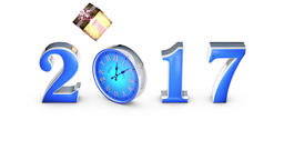 Fall gifts. Happy New Year 2017. Clock, midnight (12... Stock Video Footage