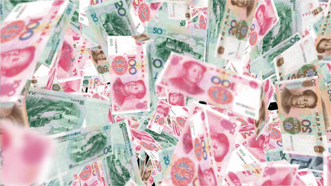 Transition Flying Money Chinese Yuan 1 Animation