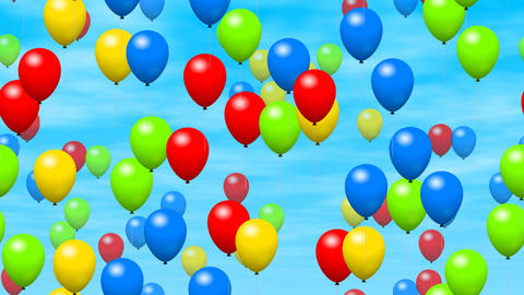 Party Balloons On Sky