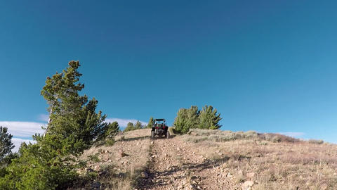 Top of mountain trail 4x4 off road recreation POV HD 939 Footage